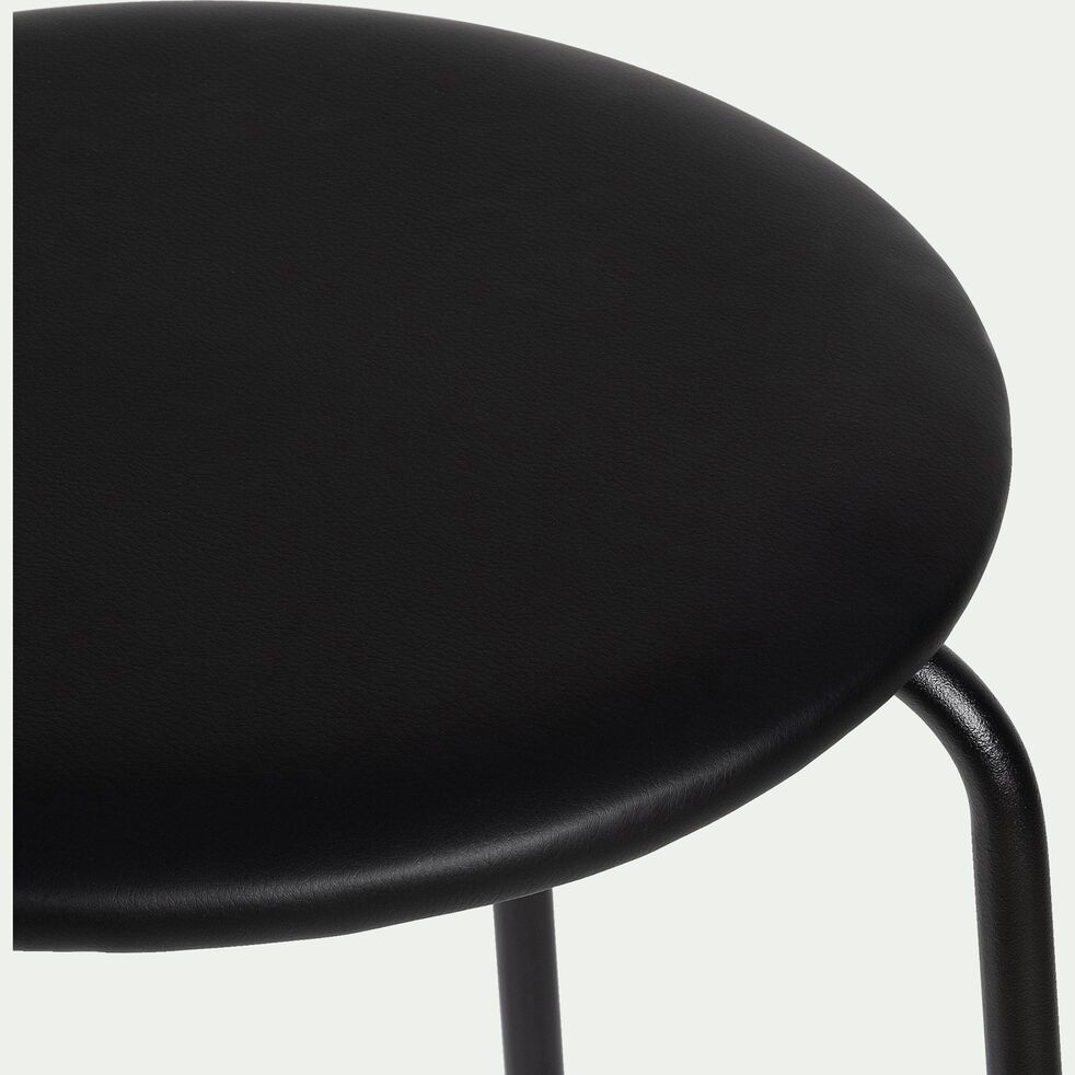Chaise de bar en métal - noir - H66cm-GREASQUE