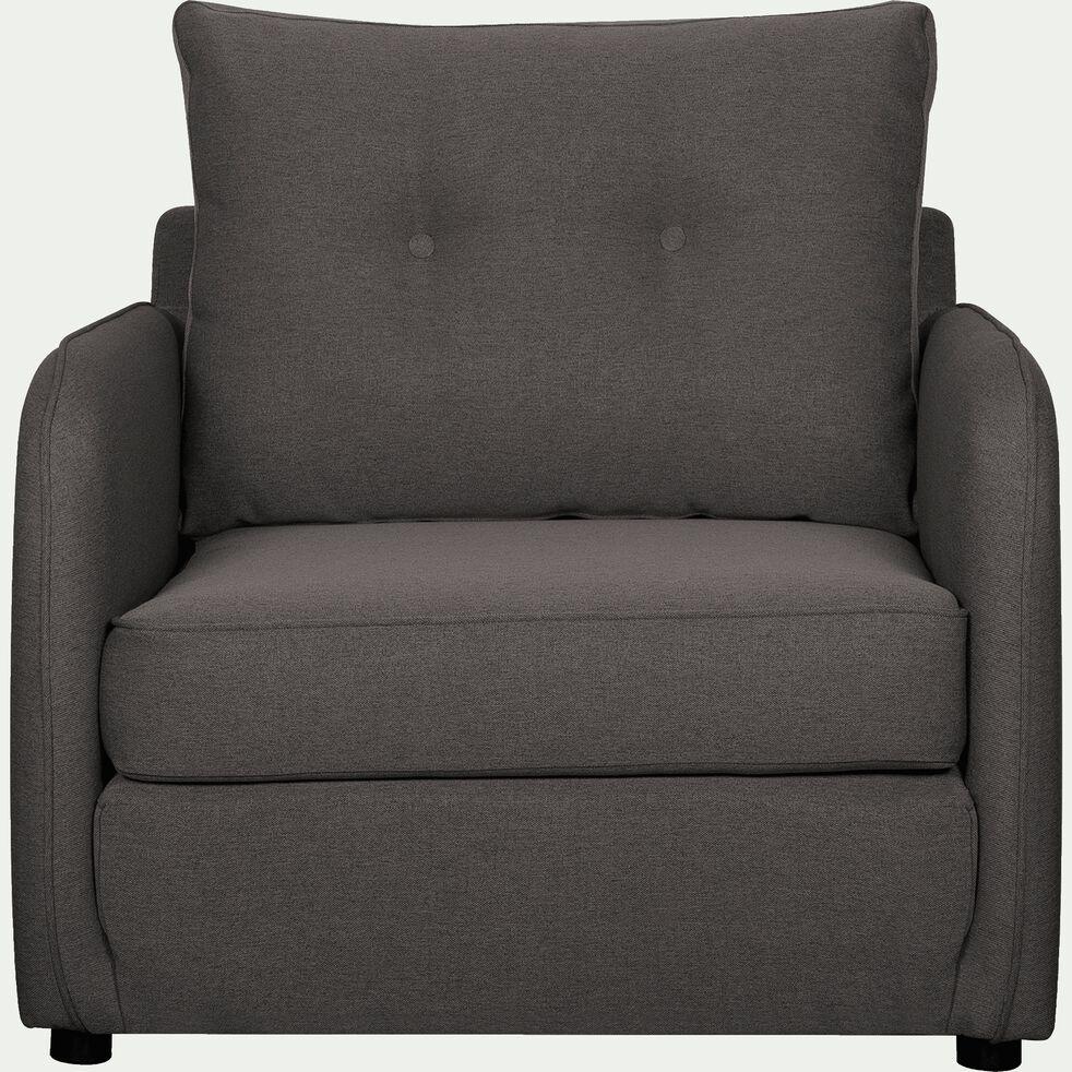 Fauteuil Lit Convertible Alinea vinyl - fauteuil convertible déplimousse en tissu gris borie