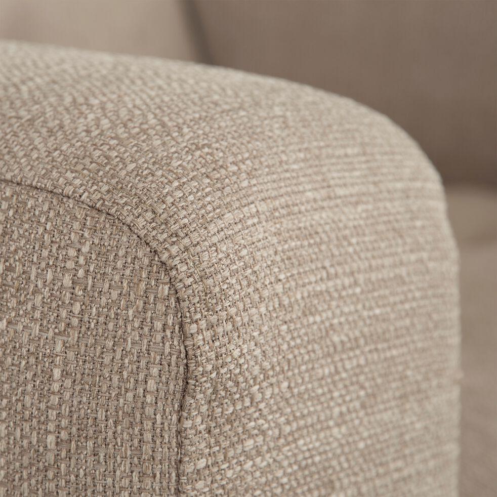 Fauteuil relax en tissu avec têtière réglable et repose pieds - beige-ODYS