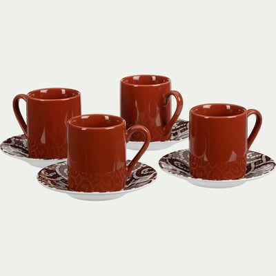 Tasse en porcelaine rouge-MOSAIQUE