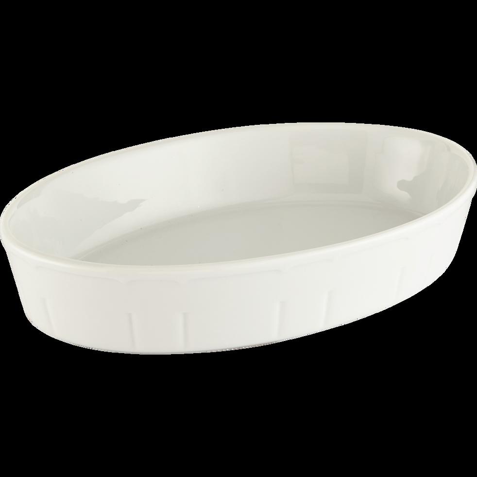 Plat à four ovale en porcelaine 32x22.5cm-CONSTANCE