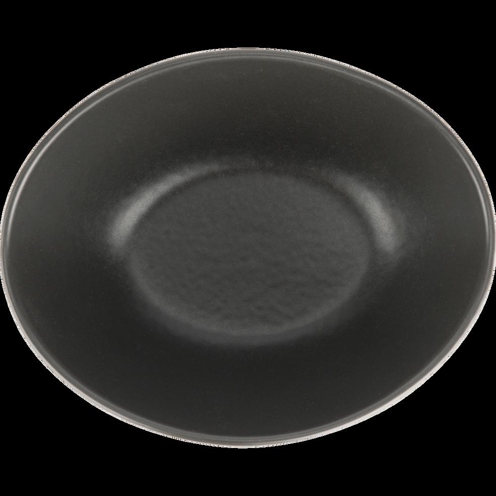 Coupelle en porcelaine noire 13x9.5cm-TARA