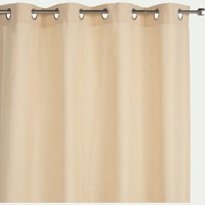 Rideau à oeillets en coton beige roucas 140x300cm-CALANQUES