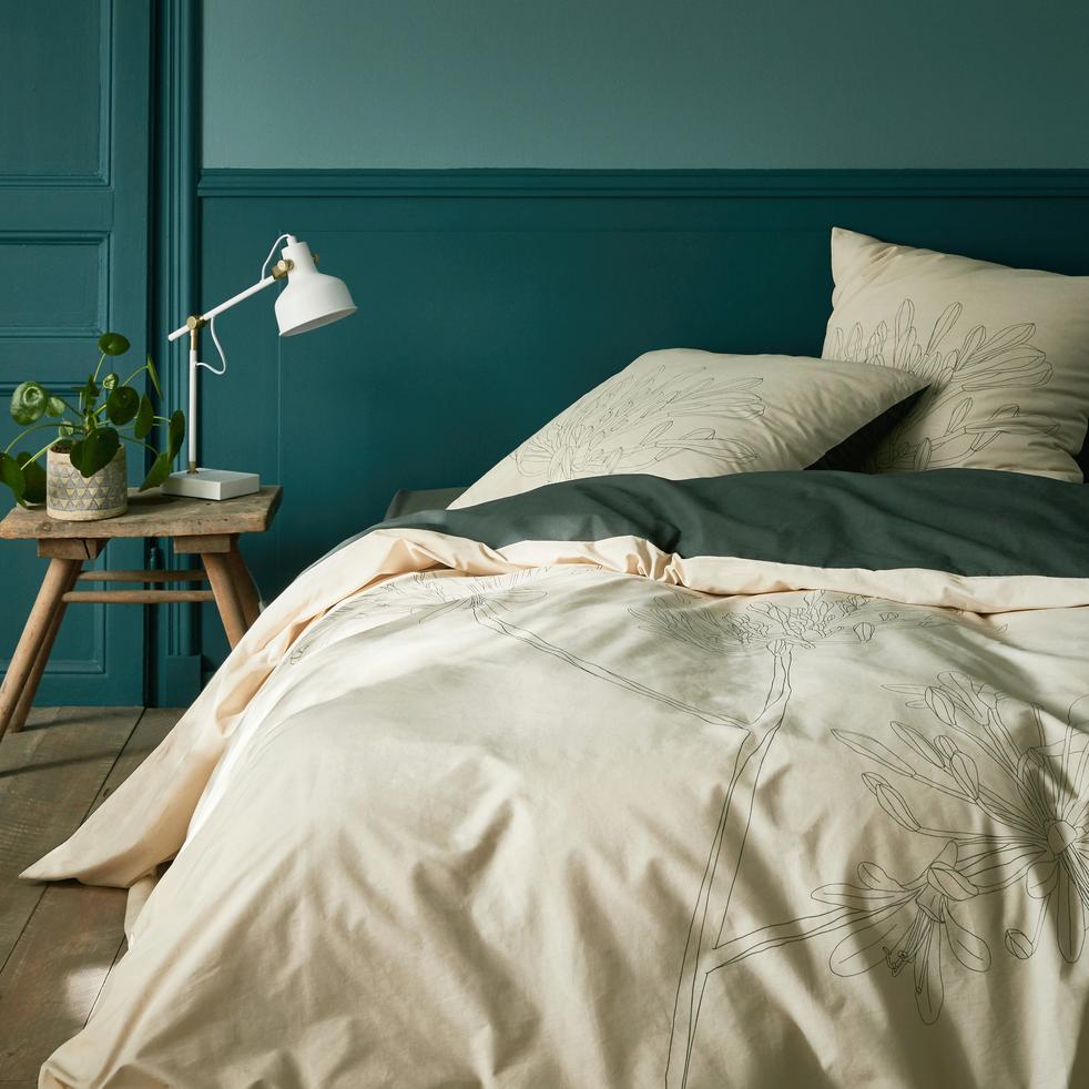 housse de couette en coton imprim agapanthe 240x220cm asti 240x220 cm catalogue. Black Bedroom Furniture Sets. Home Design Ideas