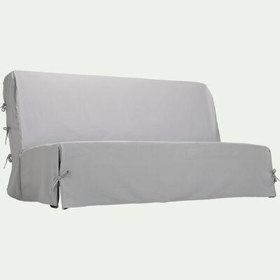 Housse pour clic-clac en polycoton - gris borie L140cm-PAULINE