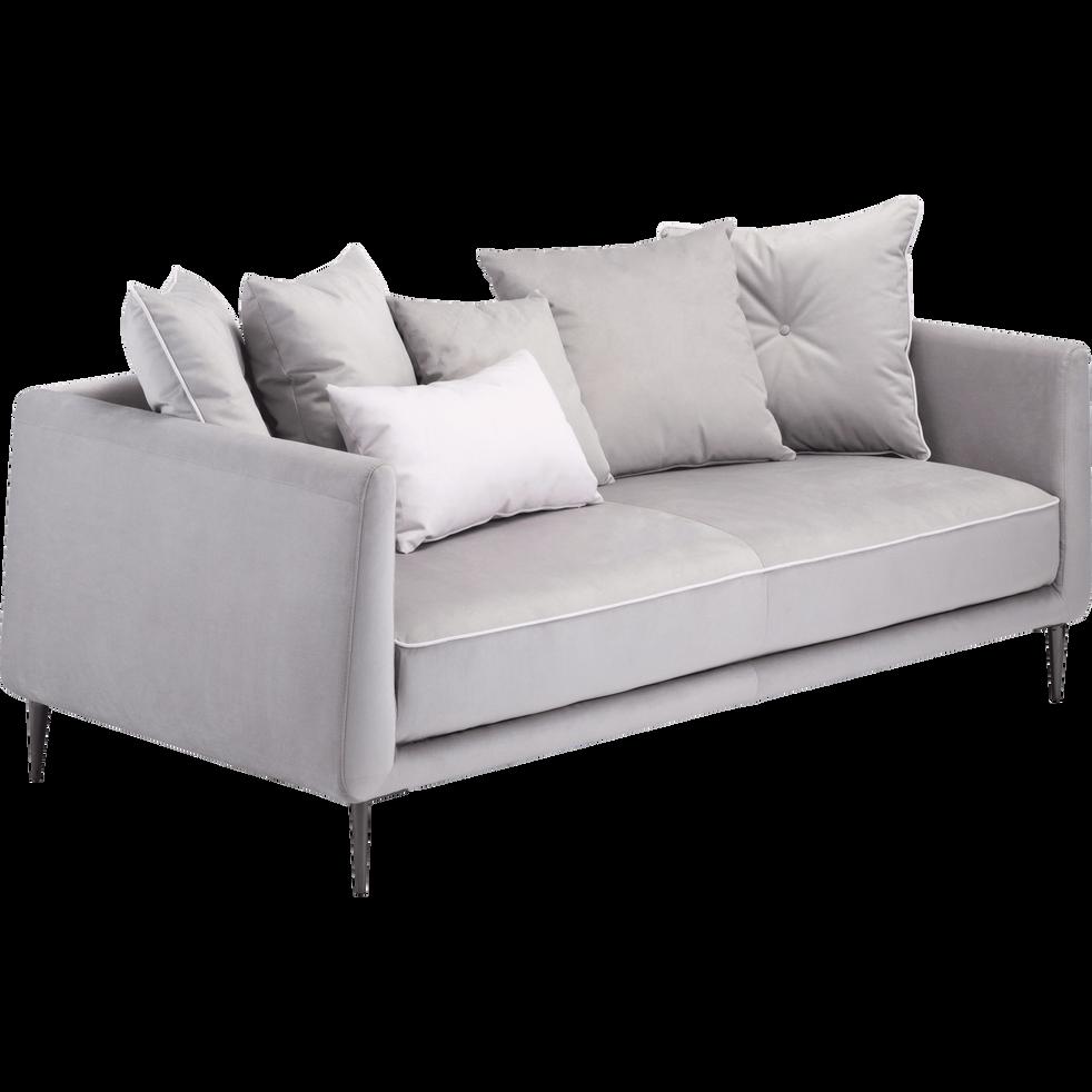 canap 3 places fixe en tissu gris borie astello canap s droits en tissu alinea. Black Bedroom Furniture Sets. Home Design Ideas