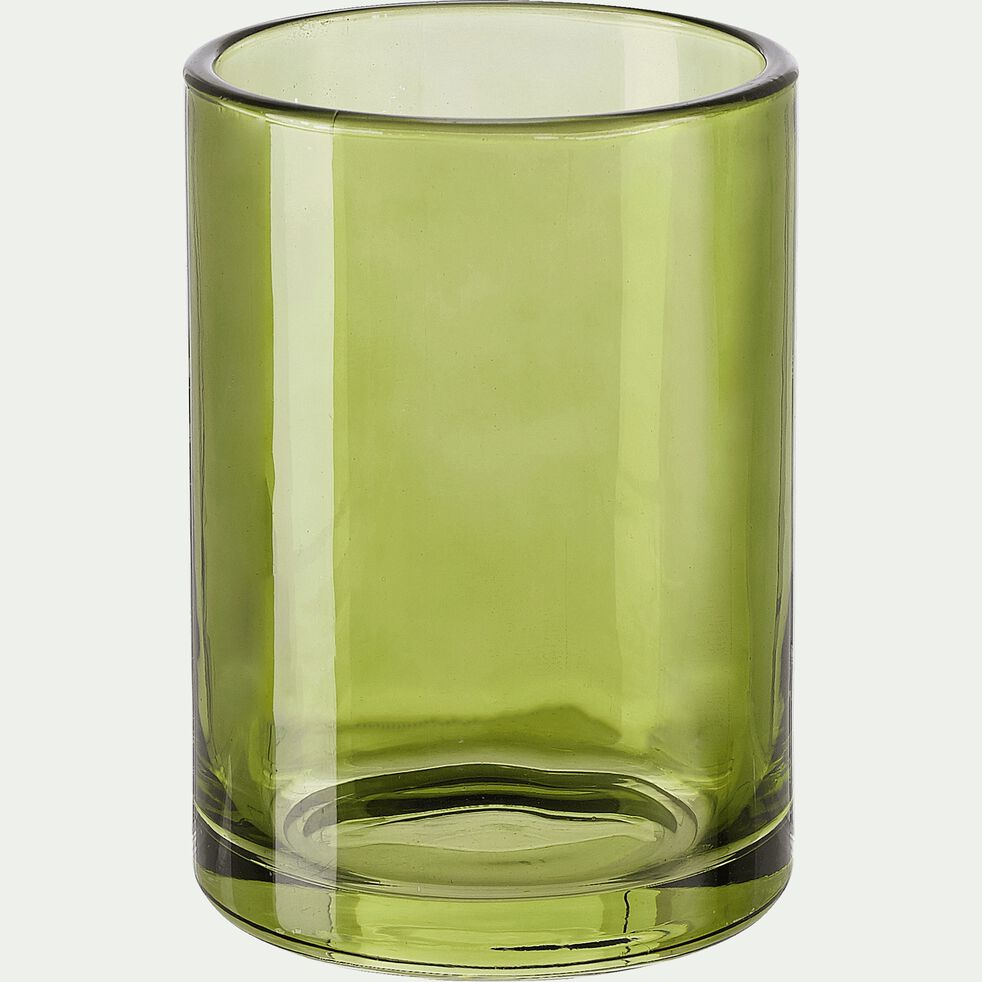 Gobelet en verre - vert H10cm-OSCO