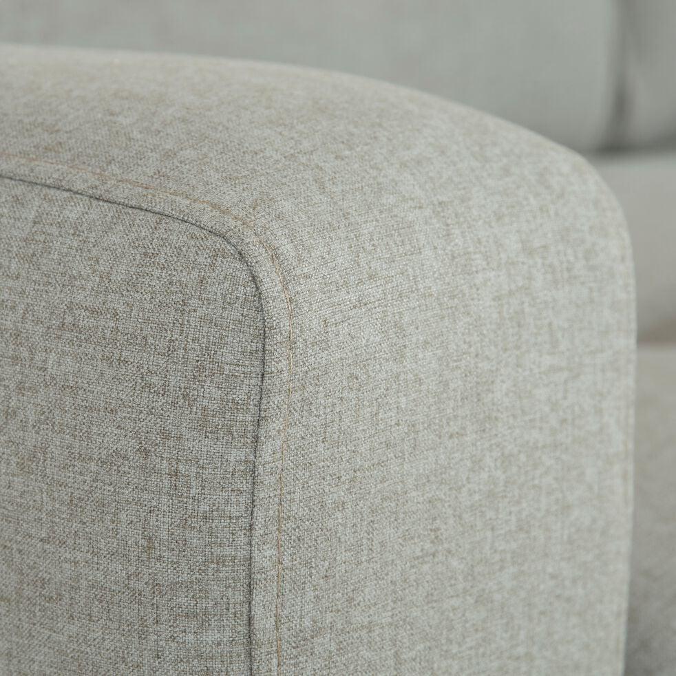 Canapé fixe 3 places en tissu avec têtière réglable - gris clair-ODYS