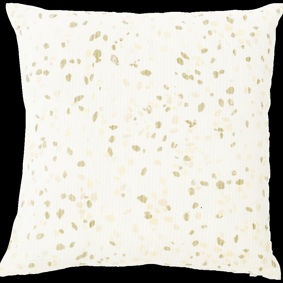 Coussin en coton écru 45x45cm-GÊNES