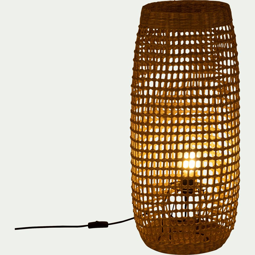 Lampe à poser en zostère - H74xD31cm-Hudson