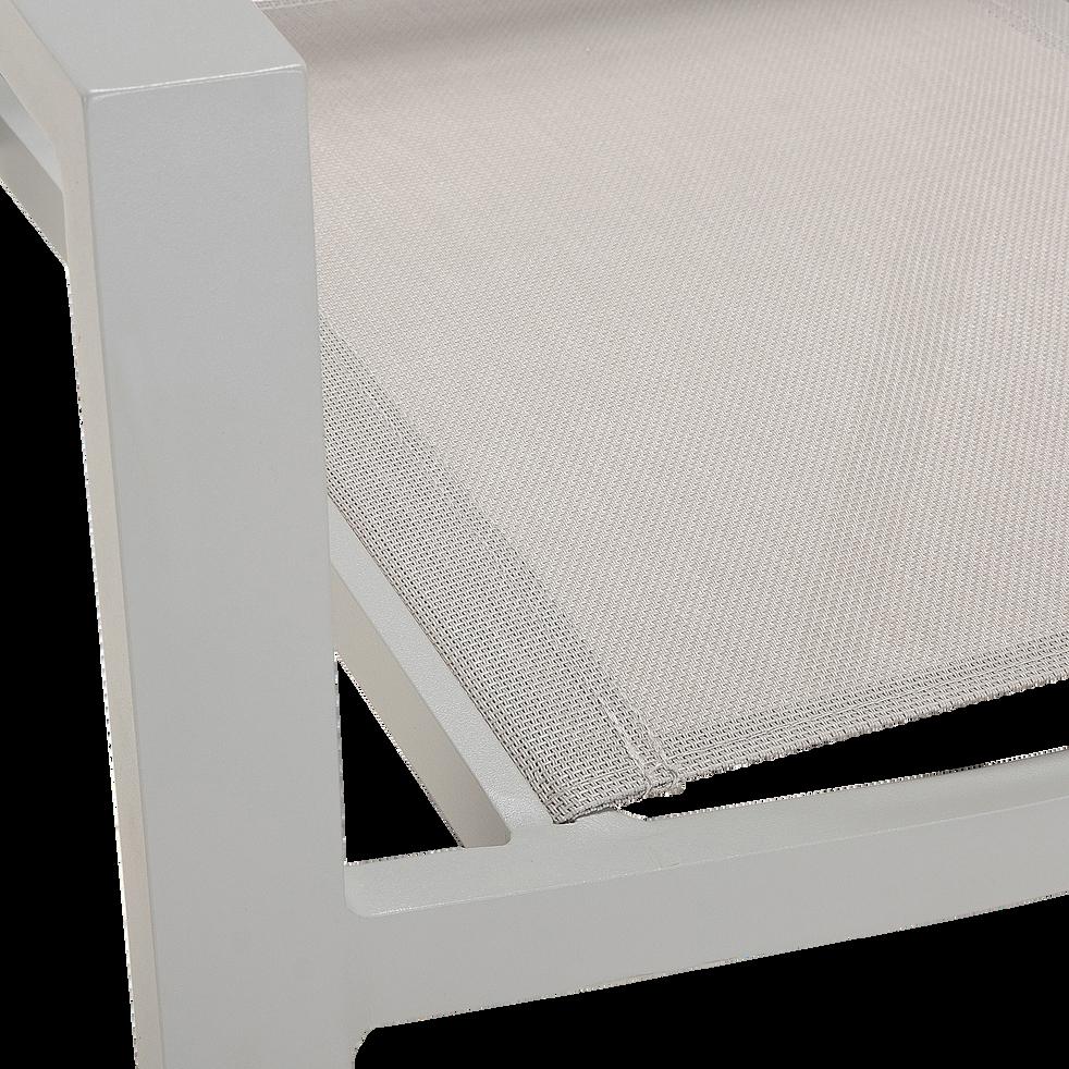 Fauteuil de jardin empilable - gris vesuve en textilène-ELSA