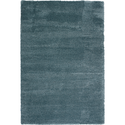 Tapis à poils longs bleu 200x290cm-KRIS