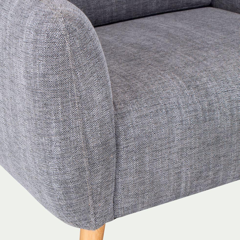 Fauteuil en tissu avec accoudoirs - gris-LUCAS