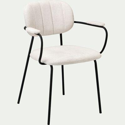 Chaise en tissu avec accoudoirs - beige roucas-FIORI