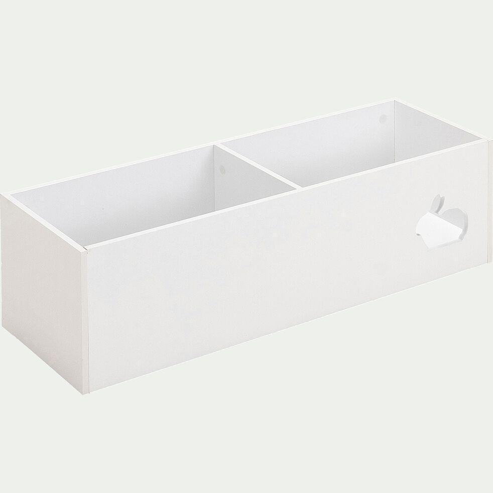 Rangement 2 cases pour chambre enfant - blanc-Dico