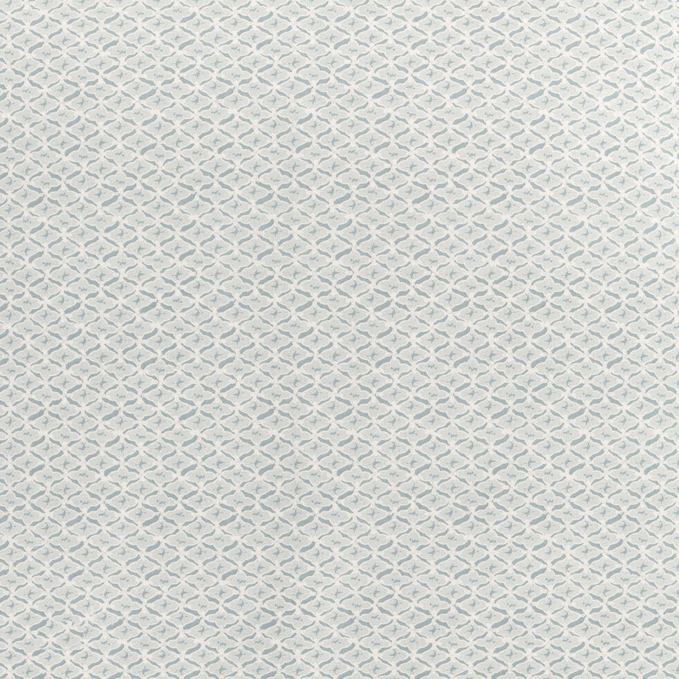 Housse de couette et 2 taies d'oreiller en coton motif fantaisie - bleu 260x240cm-ESCAIO