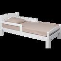 Lot de 2 barrières de lit en pin massif Blanc-Kikou