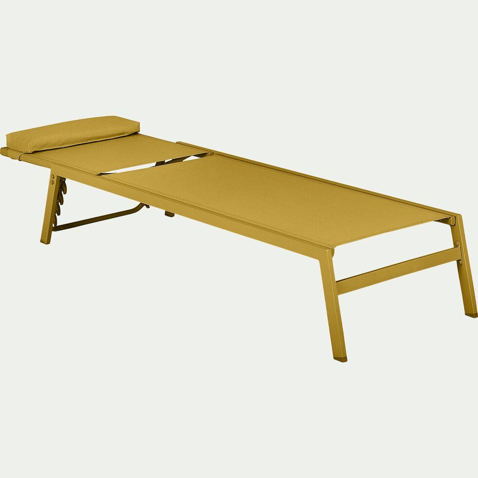 Bain de soleil en métal et textilène - jaune argan-TYCIA