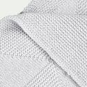 Plaid gris borie pour enfant-MARINA