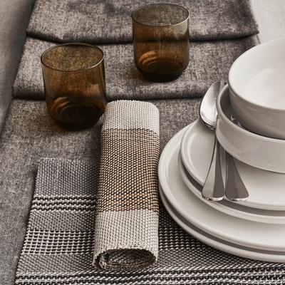 Set de table en polyester gris 30x45cm-CADET