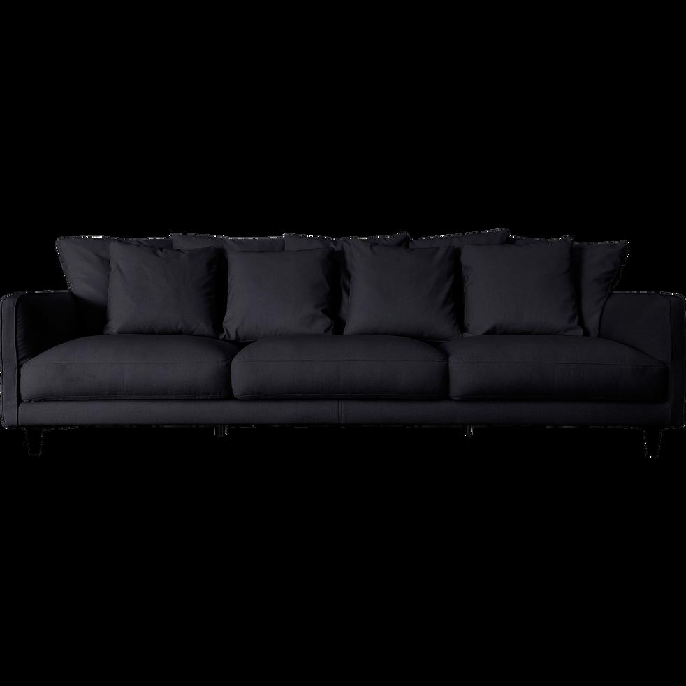 Canapé 6 places fixe en tissu gris restanque-LENITA