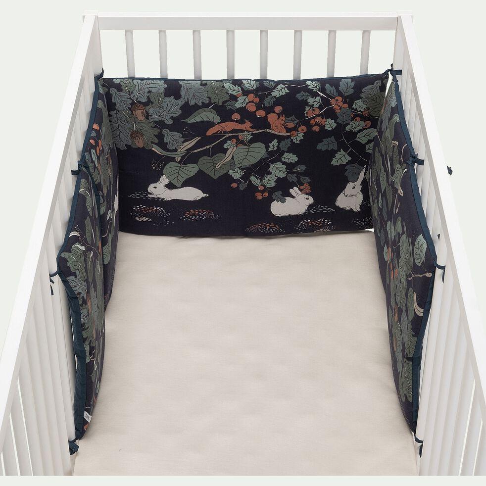 Tour de lit bébé en coton bio avec imprimé Bosquet - multicolore-Bosquet