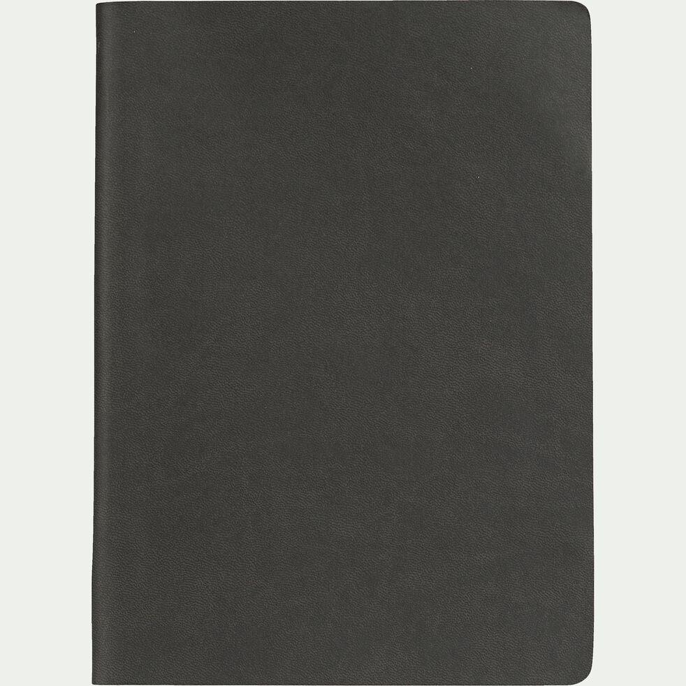 Carnet format A5 uni - gris foncé-Myrthos