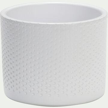Pot en céramique blanc - H10xD12cm-ERA