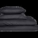 Drap housse en coton Gris calabrun 140x200cm -bonnet 30cm-CALANQUES