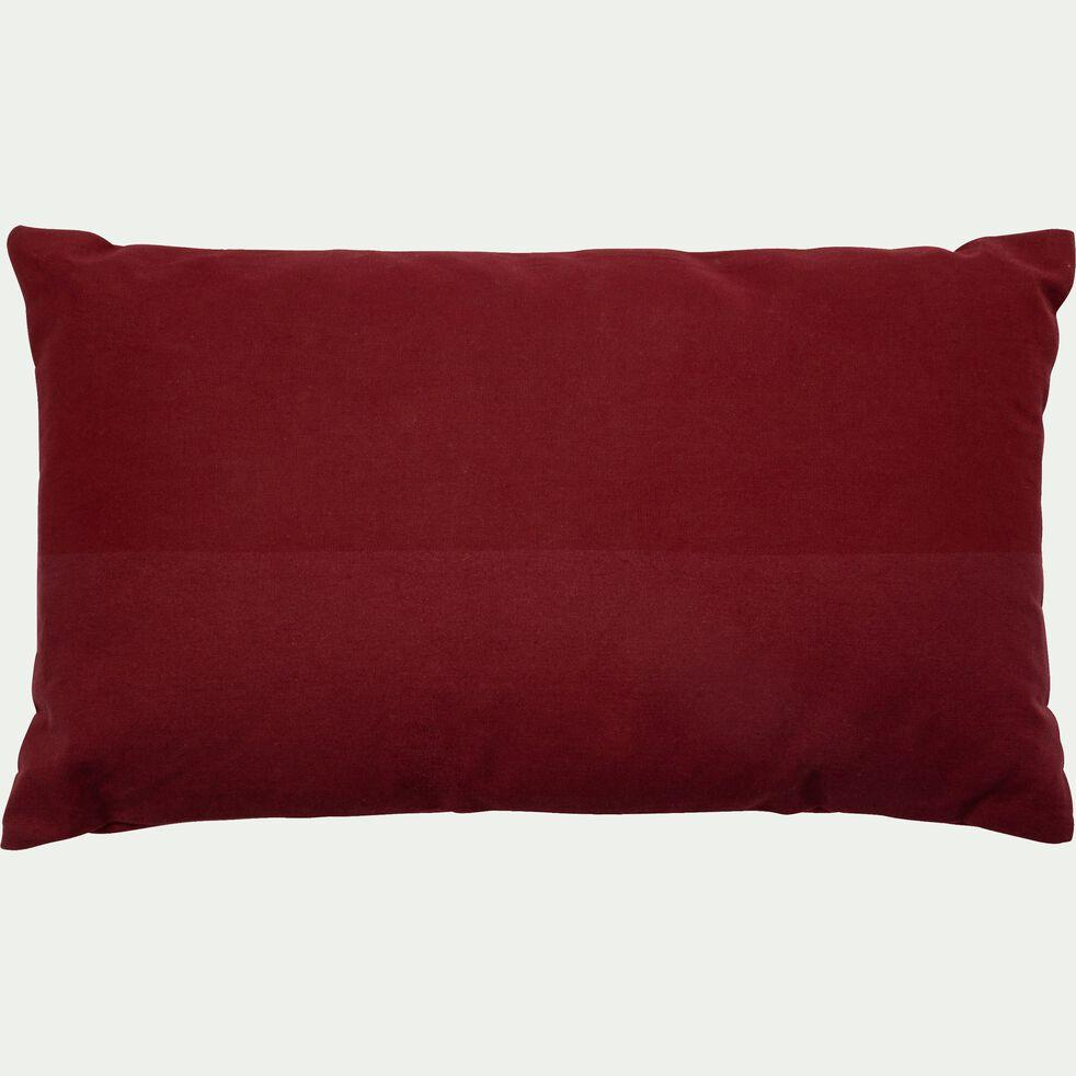 Coussin bicolore rouge 30x50cm-SALEM