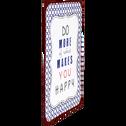 Plaque vintage bleue en métal 35x26.5cm-PIATTO