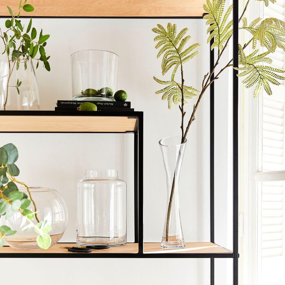 Vase sablier en verre épais - transparent H30cm-AZY