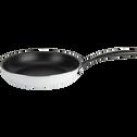 Poêle anti-adhésif blanche D24cm (tous feux dont induction)-ESCAL