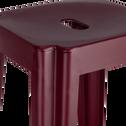 Tabouret de bar en métal rouge sumac - H69 cm-TRIVIA