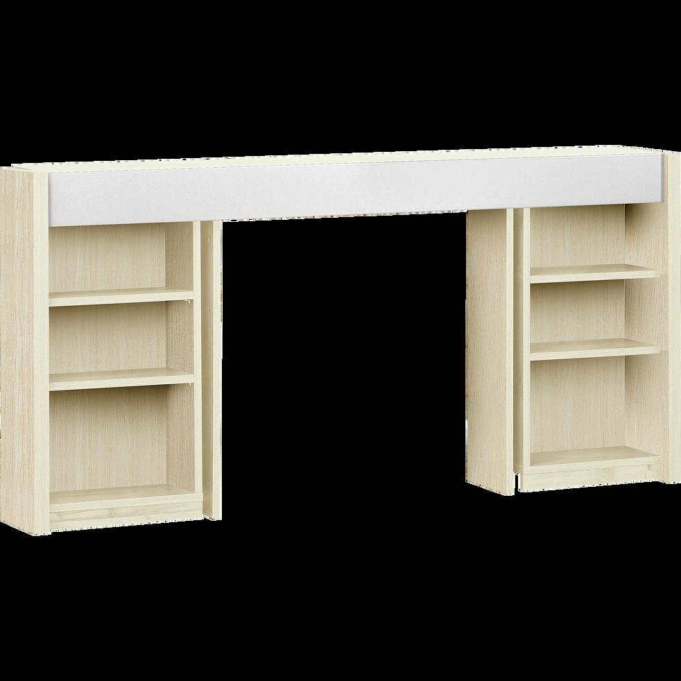t te de lit rangeante cerisier blanchi pour lit l160 cm brooklyn l160 cm t tes et. Black Bedroom Furniture Sets. Home Design Ideas