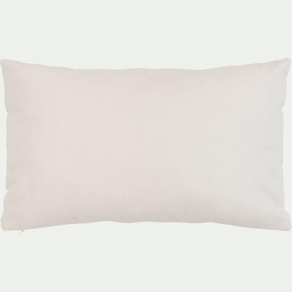 Coussin motifs glycine en coton - beige 30x50cm-SOUS LA GLYCINE