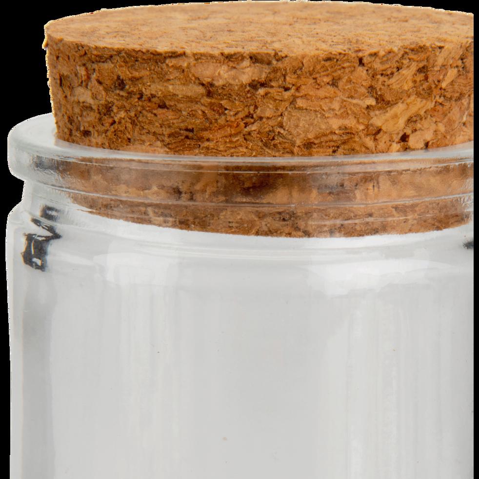Lot de 8 pots en verre couvercle en liège 6cl-CIMA