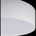 Plafonnier en tissu blanc D57cm-PASTERI