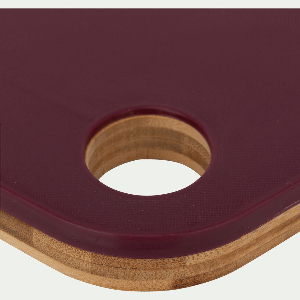Planche à découper bi-matière en bambou rouge 38x28cm-RIOU