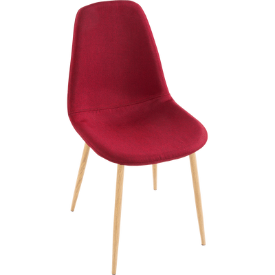 Chaise en tissu bordeaux-LISON