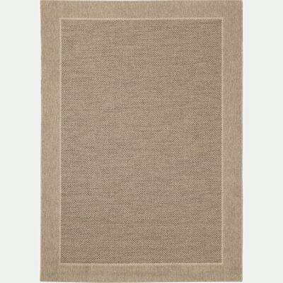 Tapis à lisière intérieur et extérieur - gris 120x170cm-basten