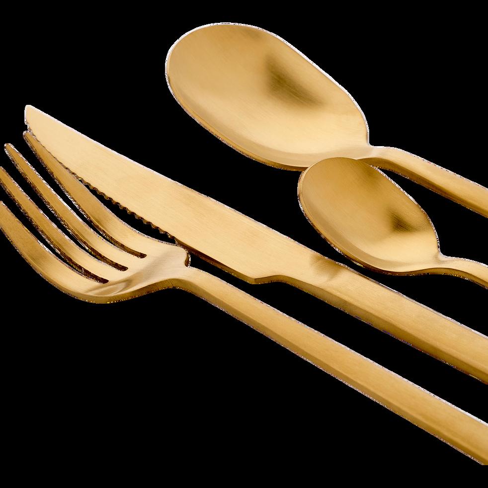 Ménagère 16 pièces en inox doré-LUXE