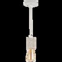 Suspension en terrazzo blanc H8,5xD6,5cm-PRAO