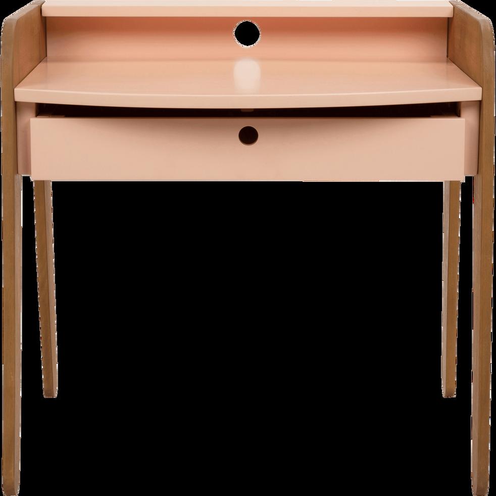 Bureau en acacia pour enfant rose sable-RAPHAEL