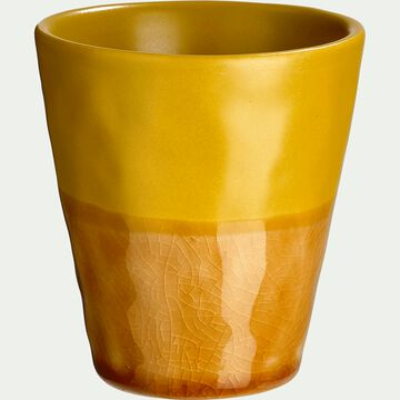 Mug en grès - caramel D7,5xH8cm-GIZEH
