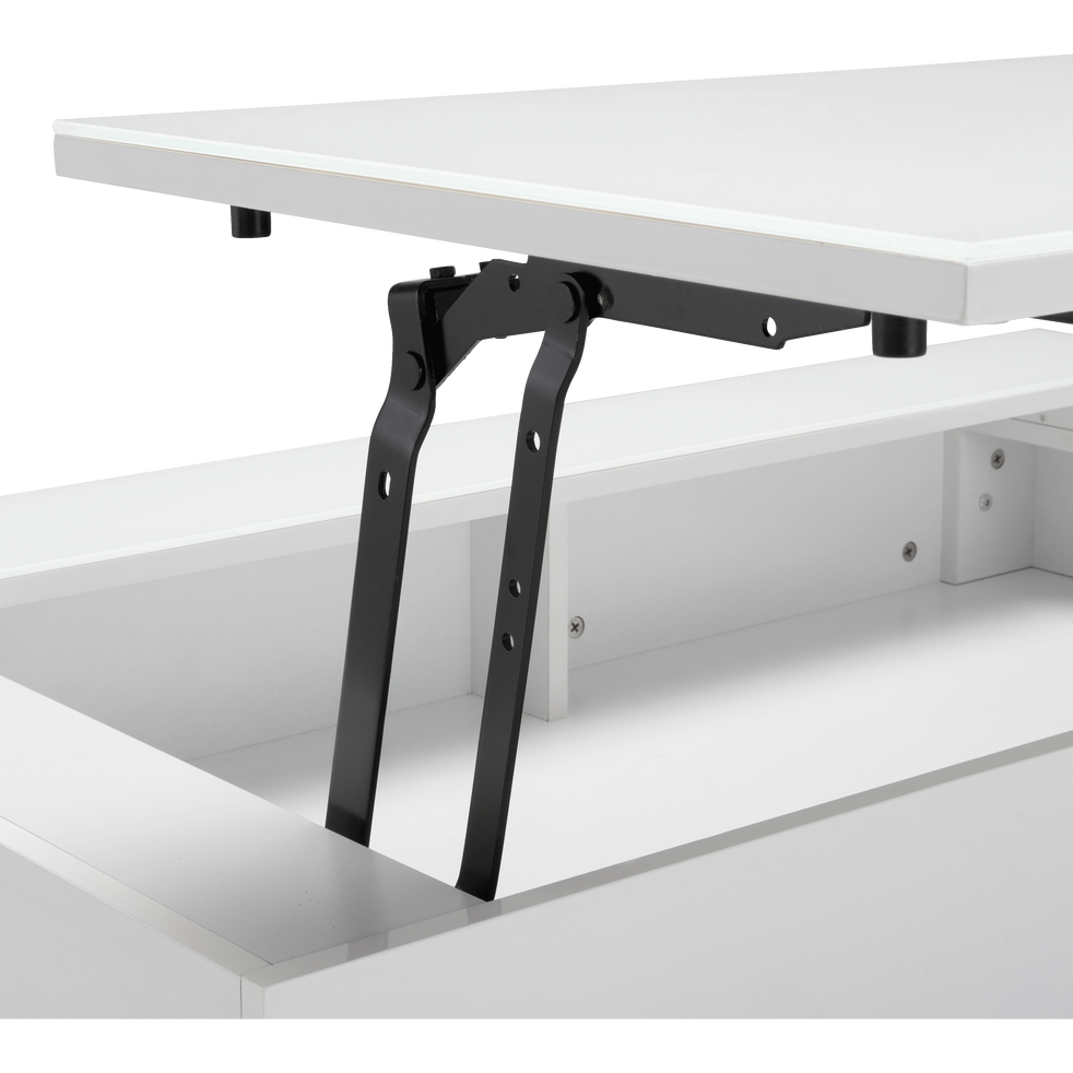 Table Basse Blanche Avec Tablette Relevable