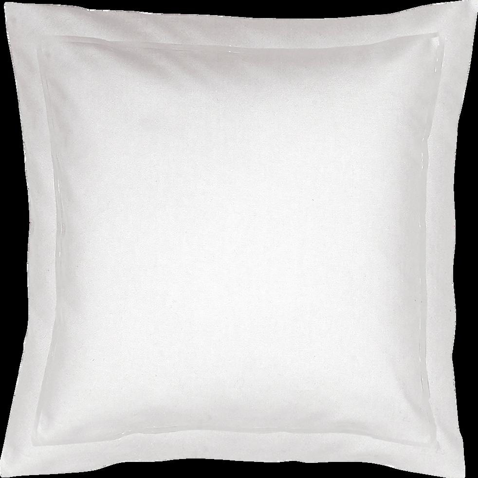 Taie d'oreiller unie blanche - 63x63 cm-LYLY