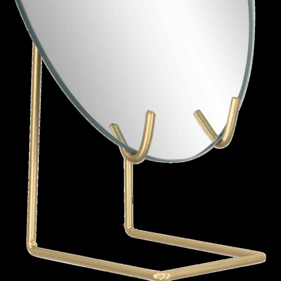Miroir sur pied en métal H23,5x15 cm-DALIA