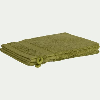 Gant de toilette en coton peigné - vert garrigue-AZUR