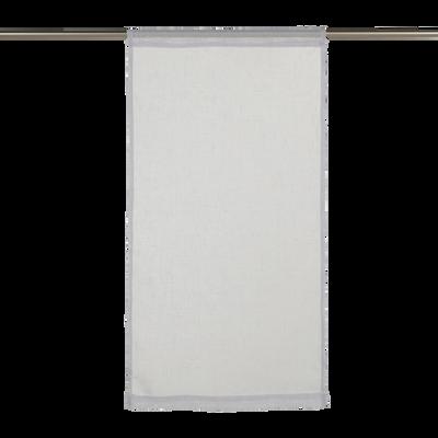 Vitrage gris borie 60x120cm-DUNE